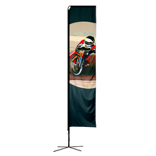 Cheap wholesale custom polyester feather banner beach flag
