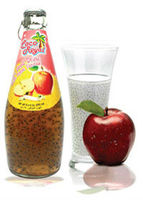 Basil seed drink with apple flavor