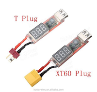 2S-6S Lipo to USB Power Converter Adapter w/Digital Display 5V 2A
