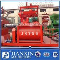 hot sale relatively low price self-loading js750 ready mix concrete machine