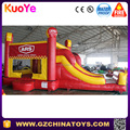 Customized commercial inflatable bouncy castle with slide and air pumps