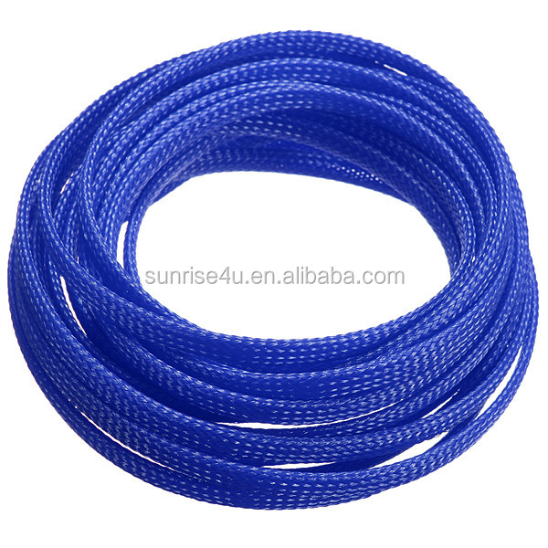 Colorful nylon/polyester woven expandable mesh tube