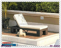 No folding and modern design outdoor rattan swimming pool chair