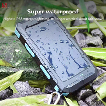 New products 2017 mobile phone solar charger 10000mAh waterproof solar power bank