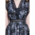 moon & star digital printed silk dress