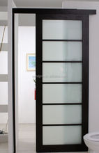 Single Panel Interior Room Divider Frosted Glass Sliding Toilet Doors