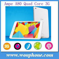 Original Ampe A80 7.85 inch 1024*768 Qualcomm MSM8625 Quad Core 1.2Ghz 1GB+16GB GPS 3G Built-in Phone Call Tablet PC
