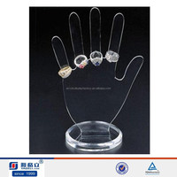 Acrylic hand shape ring display stand welcome ODM and OEM,. acrylic display stand/jewelry display
