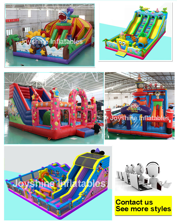 Inflatable Bounce Fun City Jungle Theme Park Inflatable Obstacle Course Castle Playground For Kids and Adult