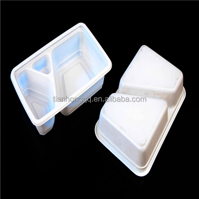 Wholesale 3 Compartment Take away Microwave PP High Quality food container Plastic Prep Meal disposable bento box with lid