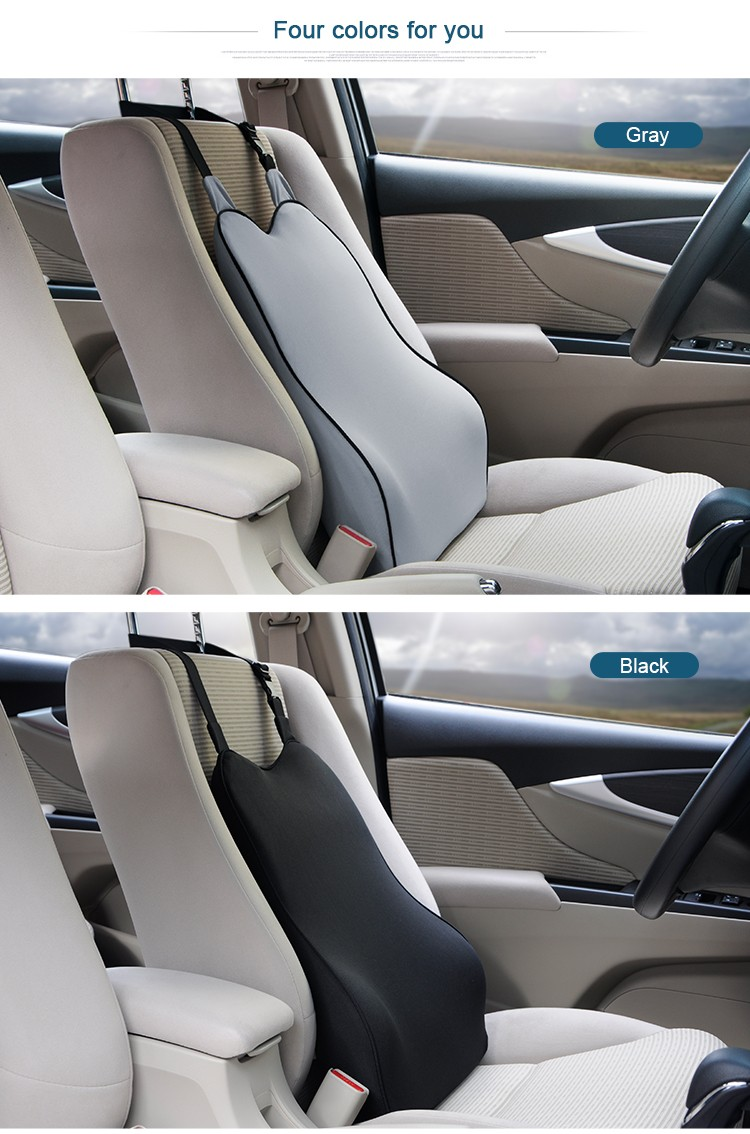 BYC Car Seat Back Support Cushion Low-temperature Resistance Memory Foam Lumbar Support For Car