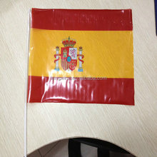 00414 Eco-friendly Customized PE Material Hand Held Waving Flag