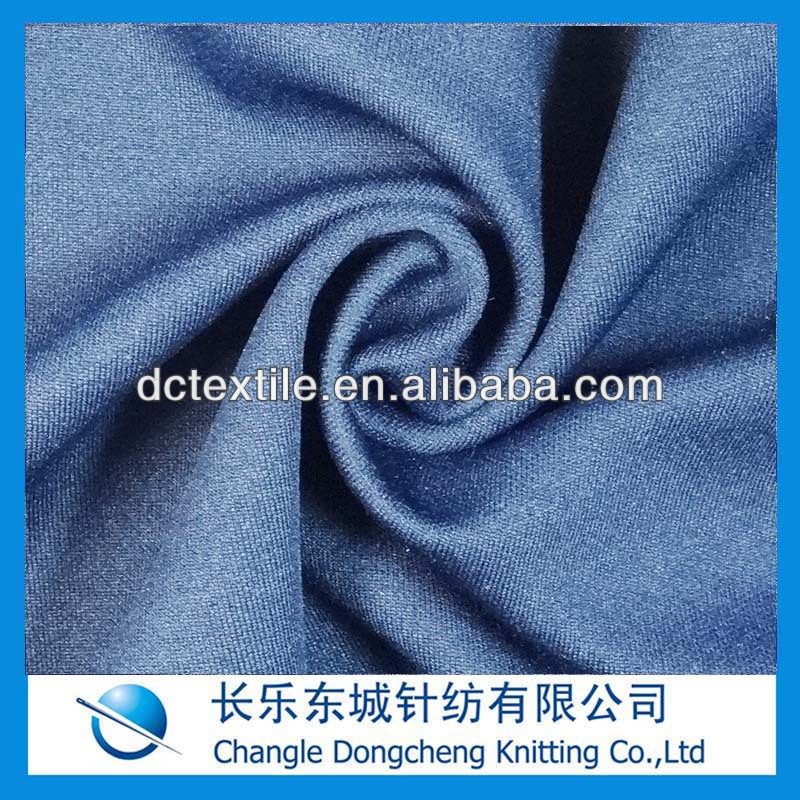polyester cotton knit fabric for cloth stock lot