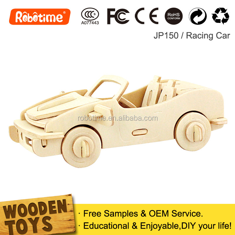Assembling Toy Car Wooden DIY Kid Puzzles Crafts