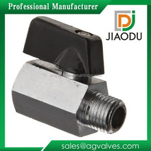 "1/4"" Female x 1/4"" Male NPT Lever Shut Off Valve Water/Air/Pneumatic/Fluid Oil and Gas Mini Brass Mini Ball valve"