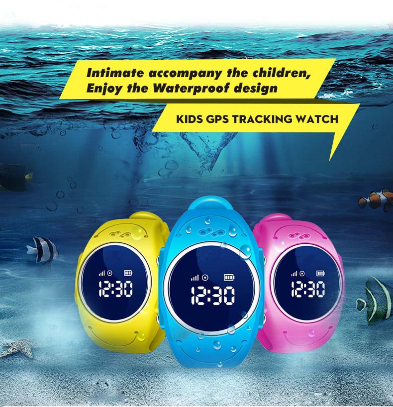 GPS Q520S Touch Screen Smart Watch Children SOS Call Location Finder Device Tracker Kid Safe Anti Lost Monitor