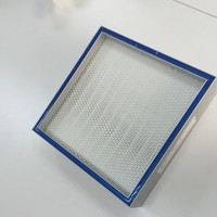Airfiltech AHU System H13 H14 Mini Pleat HEPA Filter For Pharmaceutical