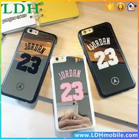 For iPhone 6 6s case For iphone 6s Plus case bulk back cover NBA brand Michael Jordan 23 fundas carcasa capa PC hard mirror