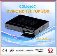 digital satellite receiver 1080P DVB-C HD SET TOP BOX with hdmi output, cable tv decoder full hd receiver COL1080C