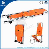 China BT-TY002 medical folding stair stretcher ambulance wheel chair light weight equipment emergency rescue stretcher