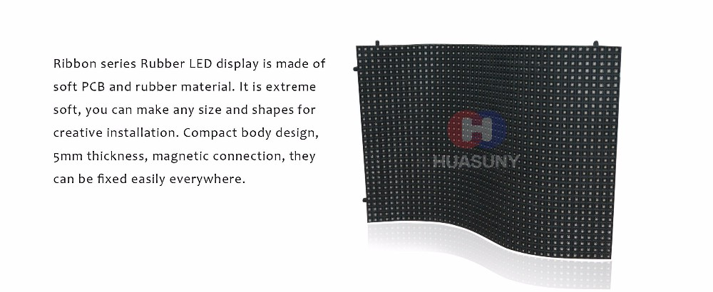 concave and convex soft LED screen