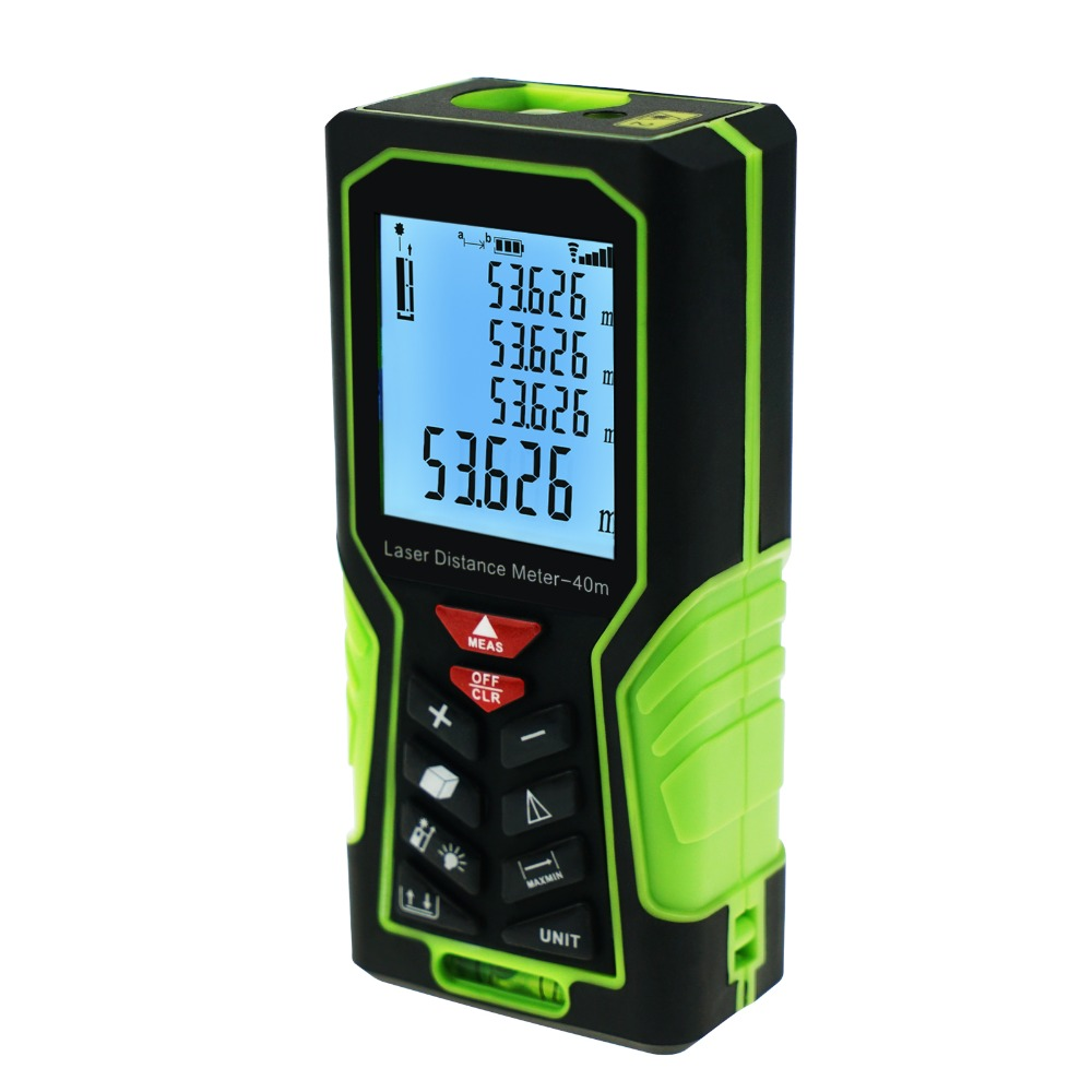 Area & Volume Measuring Tools Meter 40m(131ft) Digital Laser Distance Meter +/-1mm accuracy with Backlight and Spirit <strong>Level</strong>