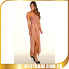 2014 fabulous mesh nude maxi one side shoulder cocktail dresses