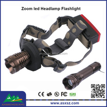 DONGRUI DR-6811 XML - T6 LED head lamp flashlight 5-mode Focus Zoom led Headlamp