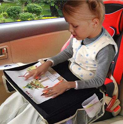 car back seat organizer with tray for kids baby car kids travel play tray bag lap tray002