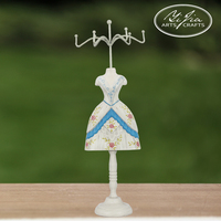 Jewelry Stand Display Holders 12 in 1 Handmade Fashion Long Dress Short Dress Decorative Mannequin Jewelry Holders Set