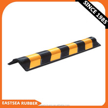 Black & Yellow 800MM Length Rubber Round Wall Corner Protector