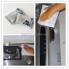 OEM/ODM welcom kitchen wet wipes special formulated for safe skin contact