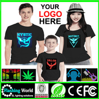 Good quality LED music T-shirt,EL Shirt