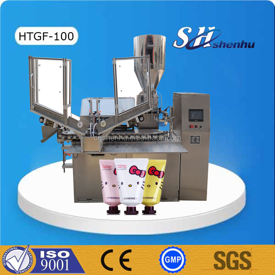 high speed automatic plastic tube filler sealer machine for hand cream