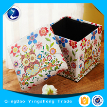 Multi Useful Foldable Storage Stool Box