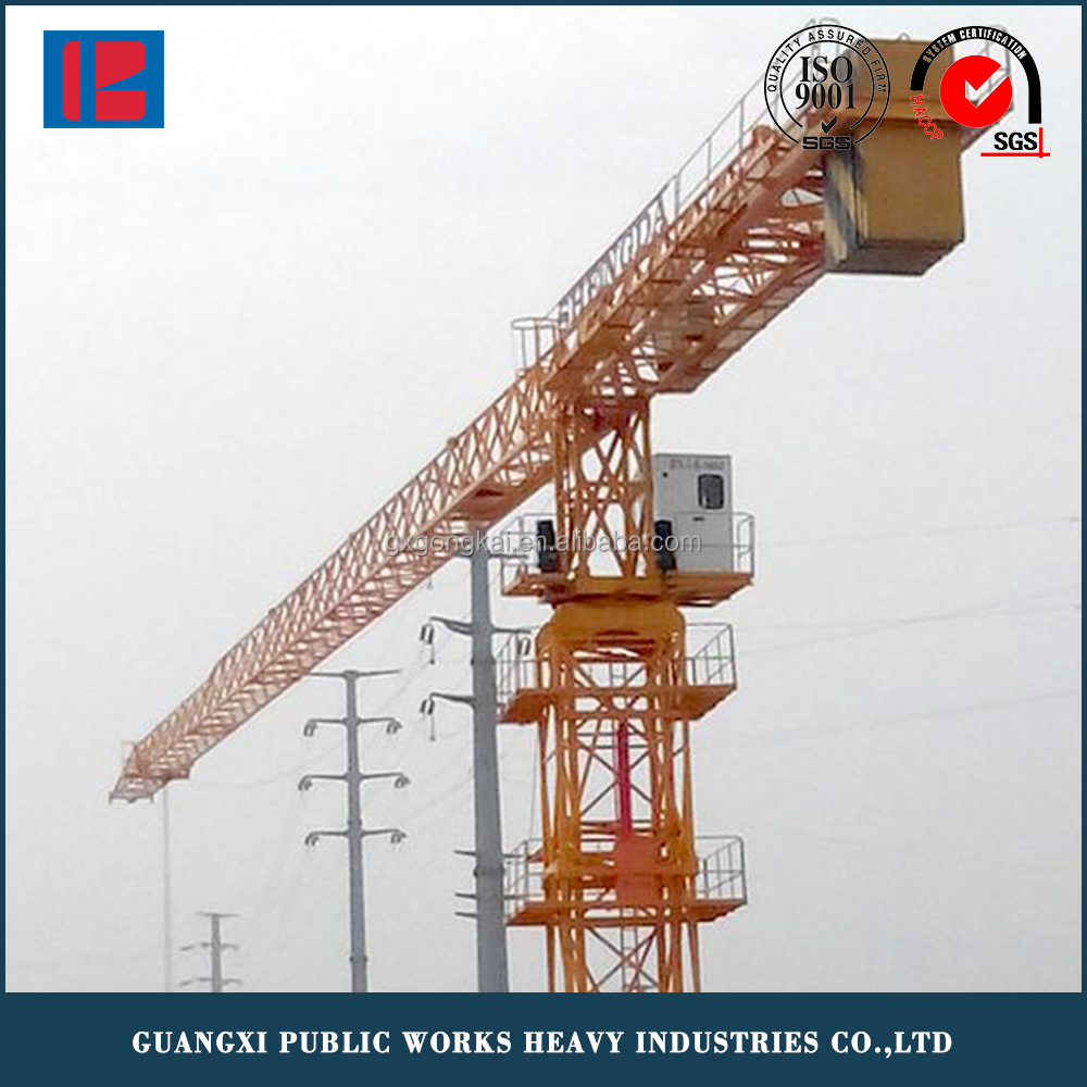 Lifting Machine, Double Slewing Motor 8T Max Load Tower Crane Supplier