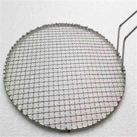 crimped wire mesh as barbecue wire mesh with bright surface