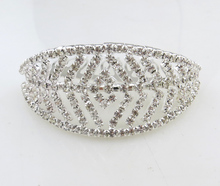 Wholesale hOT selling women fashion silver plated crystal barrette