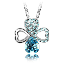 NL017 JN Jewelry wholesale pendant necklace Fancy Four Leaf Clover