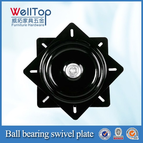 Steel bar chair swivel plate, barstool swivel plate