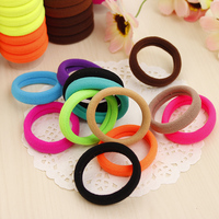 24pcs/lot Candy Fluorescence Colored Hair Holders High Quality Elastics Hair Bands Accessories Women Tie Gum