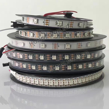 waterproof IP65 IP67 12V/5V 2812 led strip 5050 rgb Epistar 5050 RGB LED chip madrix software flex led pixel tape 144pixels