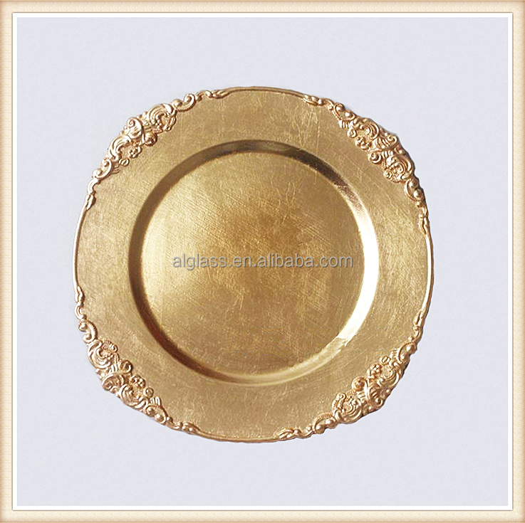 disposable gold plate chargers wedding decorative