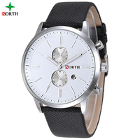 Amazon Best Sell China Replica Men's Bussiness Leather Strap Watch with Boxes cases