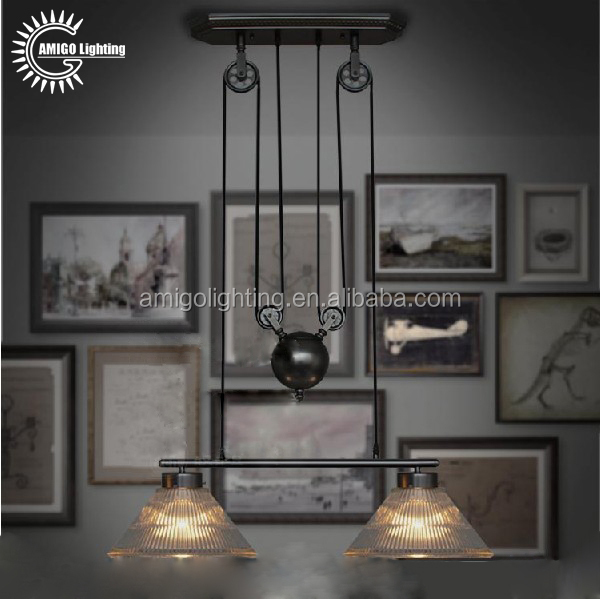 adjustable height kitchen pendant led light fixtures modern IP35-2