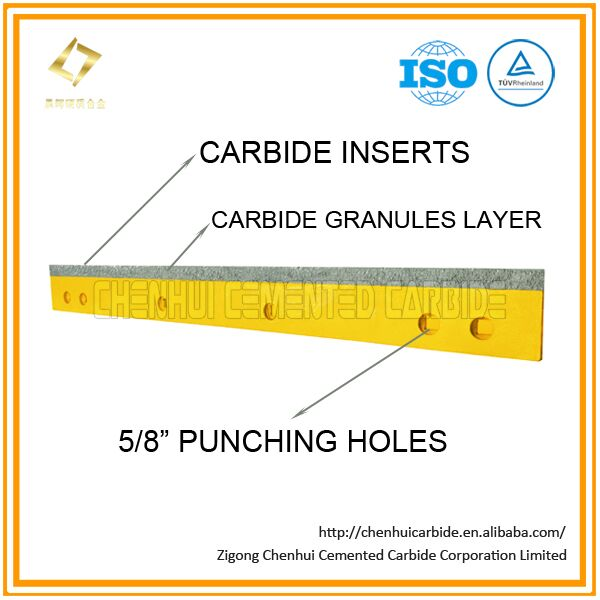 Carbide inserts with granules layer and 5/8'' punching holes