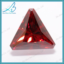 Loose garnet zirconia triangle shape cut gemstone
