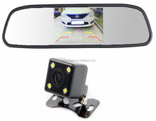 Car mirror camera with 4.3 inch mirror monitor and 170 degree camera