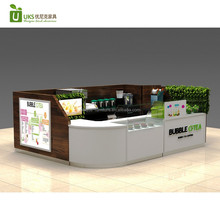 Top end fresh juice bar counter with bubble tea kiosk design for sale