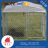 galvanized chain link dog kennels two doors large animal cage